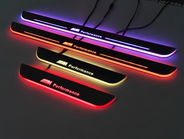Bmw common use Colorful Car LED Door Sill Plate Welcome Pedal Car Styling For e36 e39 e46 x1 x3 x5 x6 M3 M5