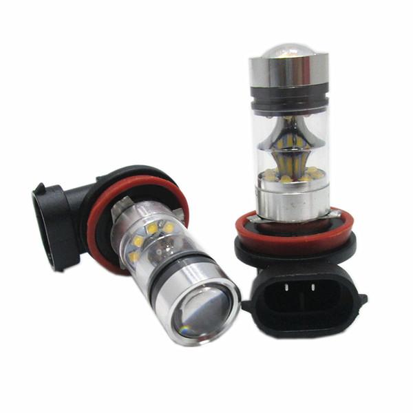 H8 H11 100W 20LED Reverse Vehicle fog light drl Head Light Driving Light Car Headlight fog