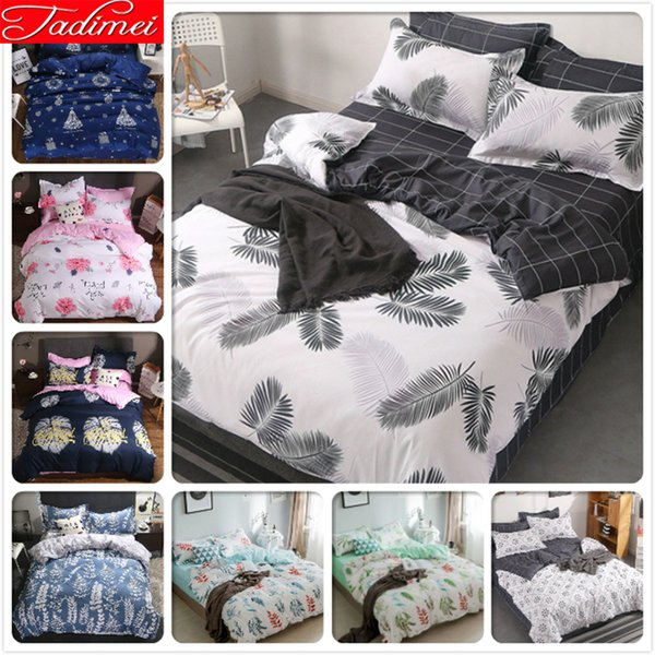 New High Quality Soft Cotton Quilt Duvet Cover 3/4 pcs Bedding Set Adult Kids Bed Linens Single Full Queen King Size Bedclothes