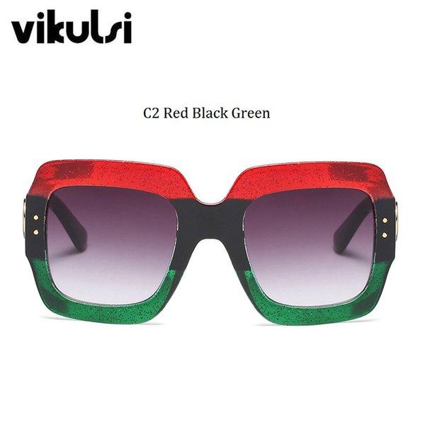 C2 rouge noir vert