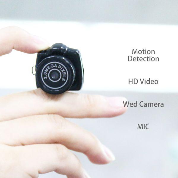 Y2000 Smallest Mini Digital DSLR DV Video Recorder Camera Web Cam DVR Camcorder HD 1280x1024