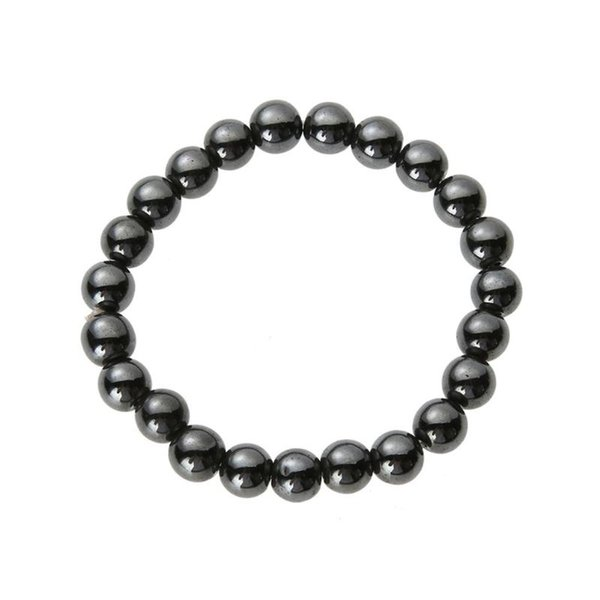 Magnetic Hematite Round Beads Stone Bracelet Weight Loss Stretch Bangles Anti-Fatigue Health Care Therapy Energy Bangle Jewelry