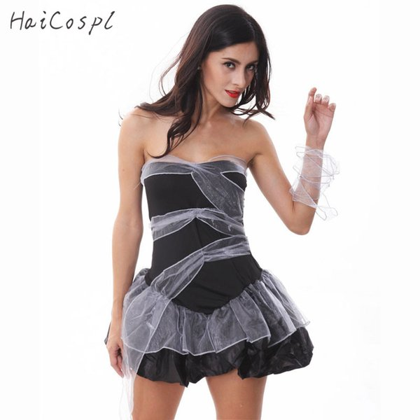 Sexy Zombie Costume Halloween Women Bride Cosplay Suit Adult Female Fancy Dress Carnival Female Role-playing