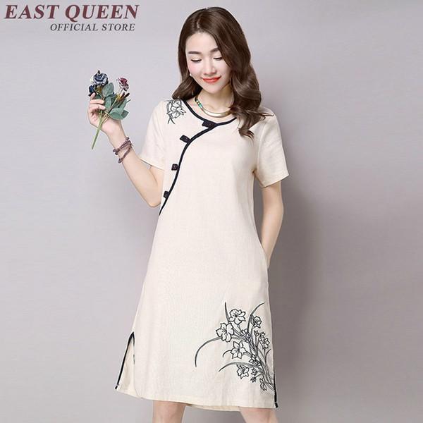 Abiti stile orientale qi pao abito corto cheongsam moderno vestito qipao donne cinese moderno AA1081
