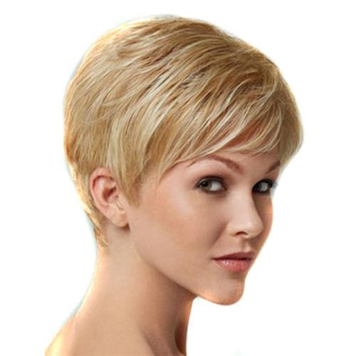 Synthetic Wig Short Stragiht Blonde Bob Hair Wigs Fashion Cheap Side Bang for Women Heat Resistant Hair
