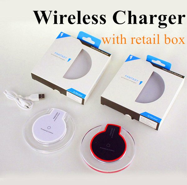 Wireless Charger Qi Wireless Charger Set For iPhone X 8 Samsung Note8 S8 S7 S6 LG Wireless Charger Stand Pad with Retail Package