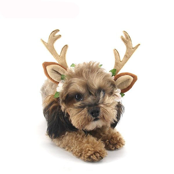 Hot Sale Christmas Pet Accessories Dog Headwear Kitty Christmas Antler Cute Headband 3 Sizes optional CCptryCyST