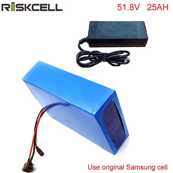 5pcs/lot 14S li-ion battery pack 52V 25Ah Electric Bicycle Battery for Bafang BBSHD 48V 1000W E-Bike Motor For Samsung cell