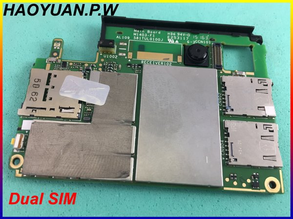 HAOYUAN.P.W Original Working Unlocked Mainboard Motherboard flex Circuits Cable For Sony M4 Aqua E2363 Dual SIM