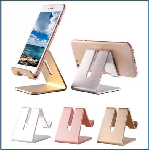 Universale in alluminio metallo cellulare tablet pc desk stand supporto del supporto staffa per iphone 6 6 s 5 s se per galassia nota 5 mq100