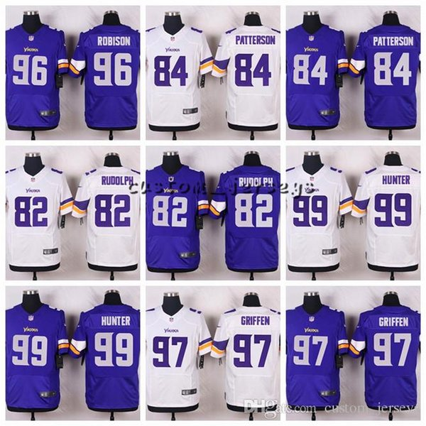 factory price 478ab 67497 2018 Minnesota Vikings #99 Danielle Hunter 97 Everson Griffen 96 Brian  Robison 84 Cordarrelle Patterson 82 Kyle Rudolph Elite Football Jerseys  From ...