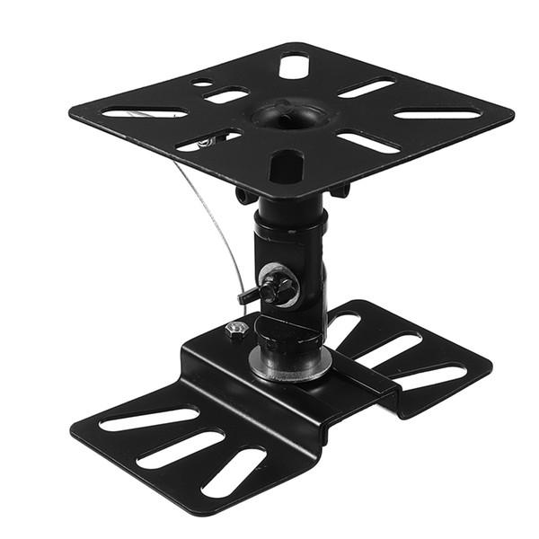 KINCO 1 ADET Siyah Kalınlaşmış Çelik Plaka Faydalı Braketi Ayarlanabilir Hoparlör Montaj Braketleri Hoparlörler Istikrarlı Tutucu