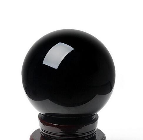 Factory direct light genuine natural Obsidian Crystal Ball Ornaments black crystal ball Lucky House