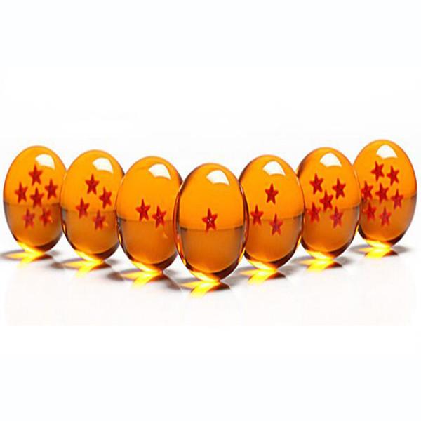 DragonBall de animación 7 estrellas Crystal Ball 4.5 cm Nuevo en caja Dragon Ball Z Juego completo de juguetes 7pcs / set 20 sets