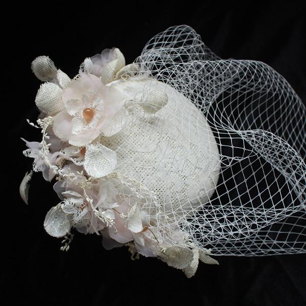 2019 hotsale Novia coreana boda sombrero vestido de boda estudio fotográfico tiro lino pequeño sombrero exterior foto accesorios accesorios para el cabello
