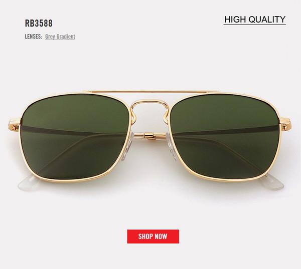 Gafas de sol vintage de Coolsquare Gafas de sol con lentes marrones Retro Famosa marca Diseñador Gafas de sol Metal Piernas Gafas UV400 3588 gafas