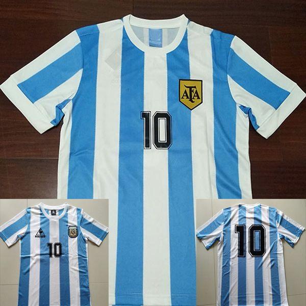 1986 Argentina Retro Soccer Jersey Maradona 1986 Vintage Classic 78 Argentina Maradona 1978 Camisetas de fútbol Camisetas de fútbol