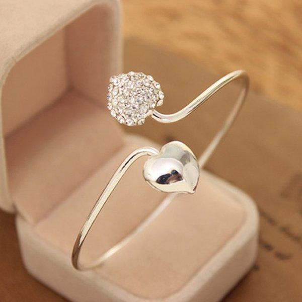 Strass Amour Coeur Bras Manchette Brassard Armlet Bracelets Bracelets Nouveau Bracelet De Mode pour Femmes Fille Dame Bijoux En Gros