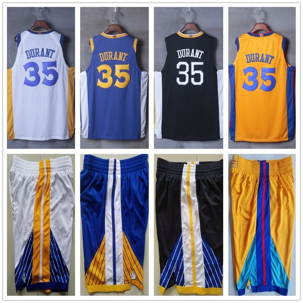 low priced dbf89 2aa6a 2018 Men Youth Kids 35 Kevin Durant Jerseys Sweatshirt The Town Black Home  Road White Blue 2019 City Edition Gold Kevin Durant Jersey Stitched From ...
