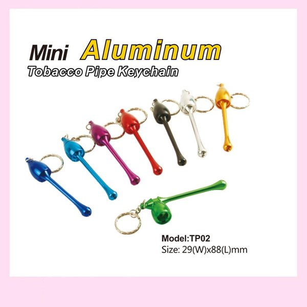 Key Chain Totacco Pipes Metal Mushroom Herb Smoking Pipes Keyring Necklace Smoke Accessory Mix Color W7518