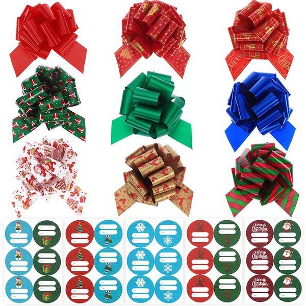 1 Set Cadeaux De Noël Arcs Délicat Beau Cadeau Rubans De Noeud Arc Noeuds Tirez Arc Pour Anniversaire De Mariage Baby Shower Holiday