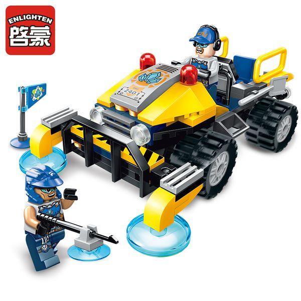 Enlighten Construction Engineering Building Block Technic Kyanite Squad Exploration Vehicle 2 Figure 119pcs Educational Bricks Toy Gift