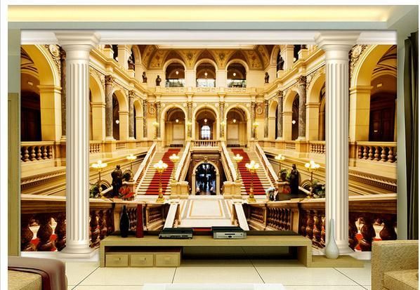 3D mural Roman column architecture TV background wall mural 3d wallpaper 3d wall papers for tv backdrop