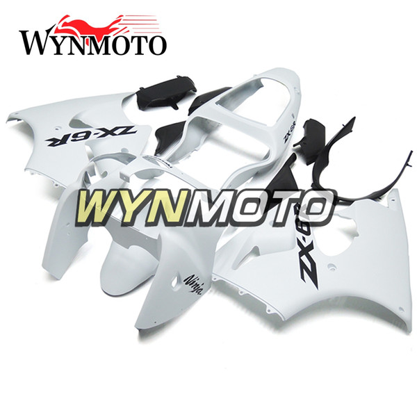 Branco Completo Motocicleta Carenagens Para Kawasaki ZX-6R 2000 2001 2002 Alta Qualidade Motocicleta Carroceria Casco ZX-636R Cobre