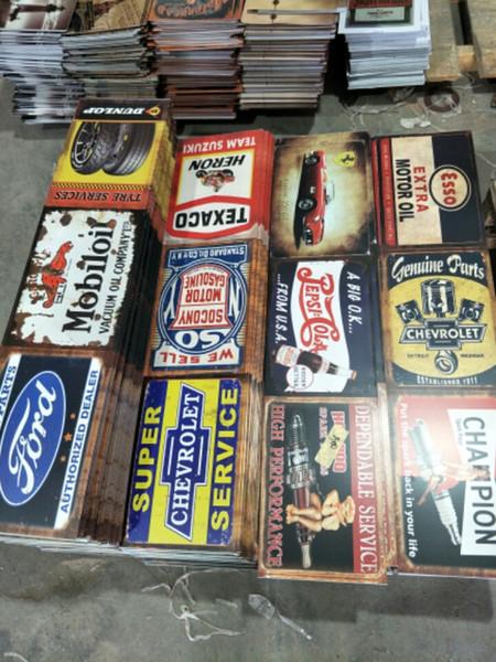 Heron gtx águia lengend campeão Garage Gasolin Motor Óleo da cerveja Retro rústico sinal do metal da lata Decoração Da Parede Do Vintage Estanho Cartaz Cafe Shop Bar casa