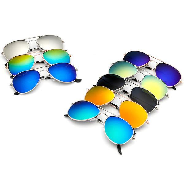 Boys Fashion Children Kids Big Frame Sun Glasses Retro Popular Metal Resin Sunglasses Ultraviolet Proof Creative Eyeglasses Hot Sale 3 6hy Z