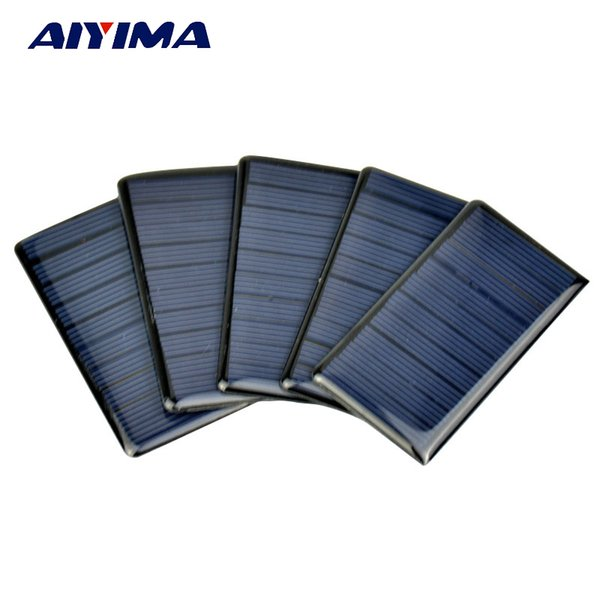 atteries Cells, Panel AIYIMA 10Pcs Panels Solar Epoxy Plates Polycrystalline Spot 68x36MM 5V 65MA DIY Solar Battery Charger Painel Sol...