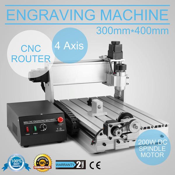 Nuevo y actualizado 4 Axis CNC 3040 Router Engraver / grabado de perforación y fresadora para madera metal