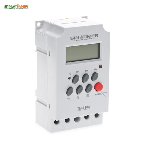 SINOTIMER Interruptor de temporizador LCD Digital programable Mini temporizador Interruptor Microordenador Interruptor de tiempo Control 12V Entrada de CC Envío gratis NB