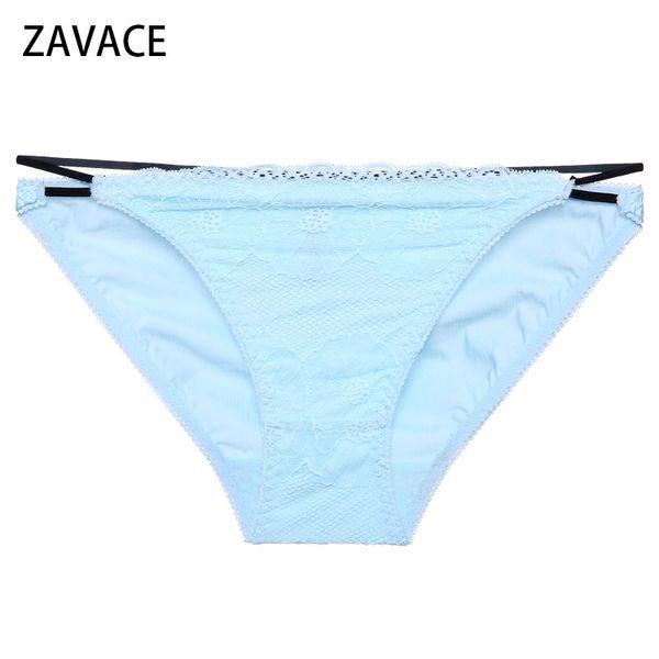 ZAVACE 3pcs/lot 2018 Cotton soft solid color cute girl breathable college wind underwear female panties women's underwear