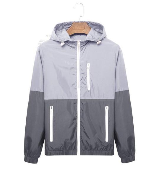 nouvelle mode manches longues hommes femmes manteau de veste sport automne taille extérieure, plus windrunner avec les hommes de vêtements coupe-vent fermeture éclair