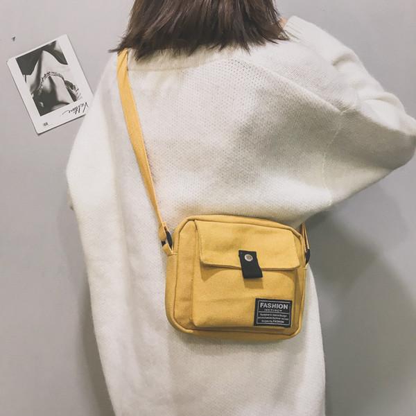 Moda L Mulheres Messenger Bag Lona Sacos De Ombro 2018 Outono Inverno New Hot Estudantes Femininos Bolsas Escolares Bolsas
