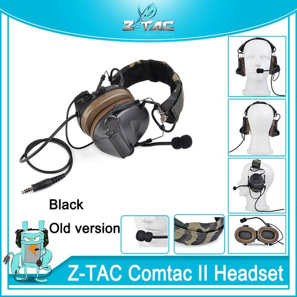 Z-TAC Tactical C2 Camouflage Headset zComtac II Headset Noise Canceling Hunting Earphone Outdoor communication Softair Microphone Headphone