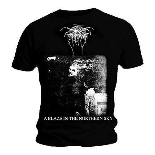 Darkthrone 'A Blaze In The Northern Sky' T-Shirt (S - XXXL) - NEUE OFFIZIELLE! Baumwolle Männer T Shirts Klassisches Top T-Shirt Basic Models T-Shirt