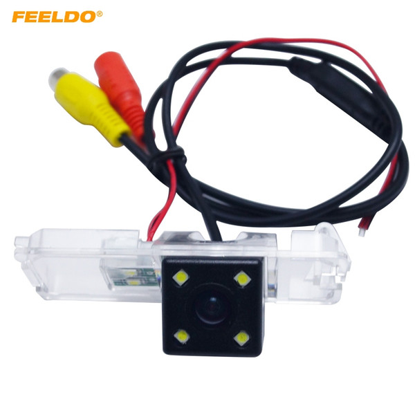 best selling FEELDO Special Rear View Car Camera With LED Light For Volkswagen Passat B7 Magotan Golf Phaeton Passat CC Scirocco Polo Superb #4057