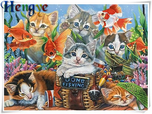 Diamond Painting Cat 5d Diy Special Shaped Animal Diamond Painting—CN