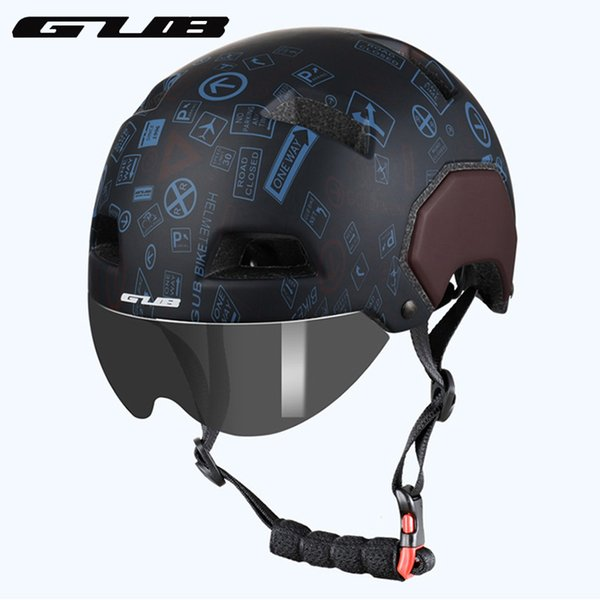 GUB V3 City Urban Bike Helmet With Magnetic Lens Road MTB Bicycle Motorcycle Sports Saftey Helmet M L Adult Cycling Safe Cap