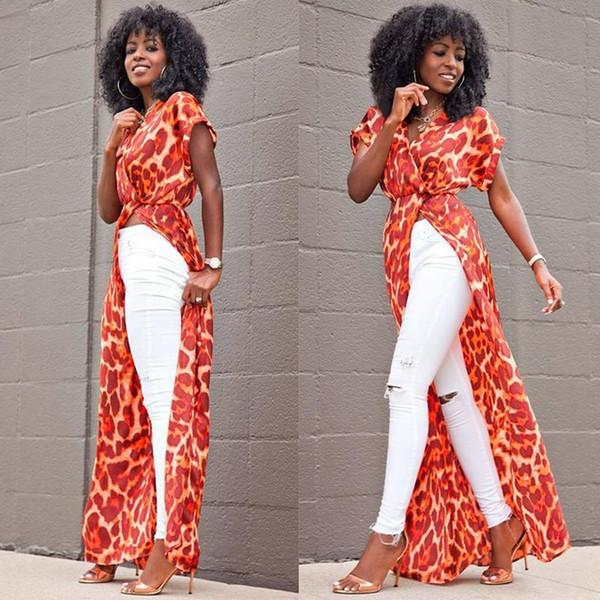 Robe bohème maxi 2018 printemps été floral imprimé plage robe femmes africaines boho robe vêtements sexy robes de soirée haute fente