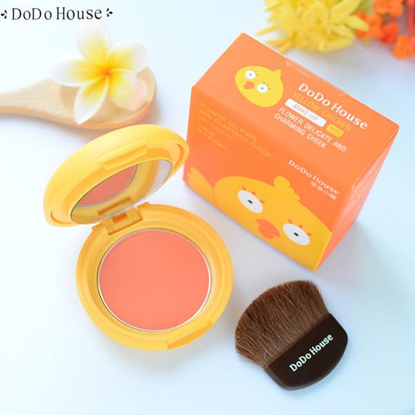 Nova Chegada Rosto Blush Paleta Maquiagem Matt Blush Em Pó Profissional Rosa Bonito Bochecha Com Kits de Escova Rouge Cosméticos Coreano