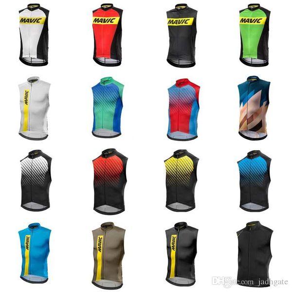 MAVIC team Cycling Sleeveless jersey Vest summer style quick dry mtb bike sportswear for men D0814