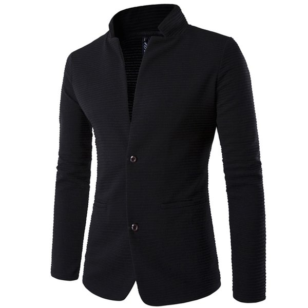 Men's suit  high quality blazer slim fit masculino2017 new fashion terno masculino personality without collar stitching