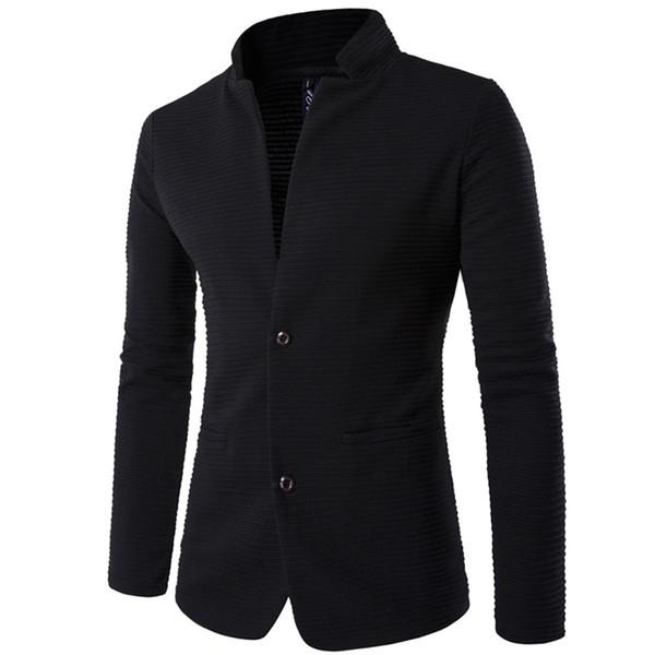 Männer Anzug Marke hohe Qualität Blazer Slim Fit Masculino2017 neue Mode Terno Masculino Persönlichkeit ohne Kragen Nähte