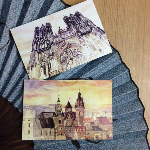 12 patrón de la vendimia pintado a mano de la Ryhthm de la vida tarjetas postales conjunto de libro / tarjeta de felicitación clasificada / Cumpleaños Tarjetas Lote