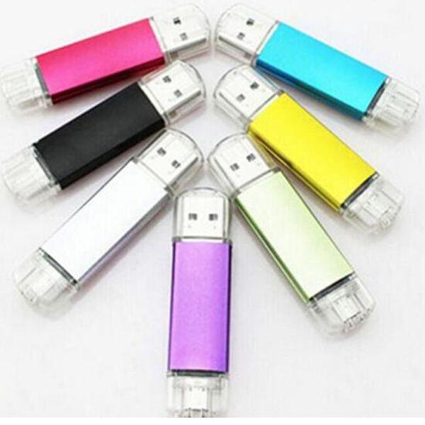 64GB 128GB 256GB OTG USB2.0 Flash Drive Memory Stick Disk Swivel USB Sticks iOS Android retail retail package free shipping