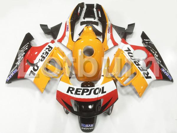 Alta calidad de plástico ABS en forma para Honda CBR600RR CBR600 CBR 600 F3 1997 1998 97 98 Moto por encargo Moto Carenado Kit carrocería A93