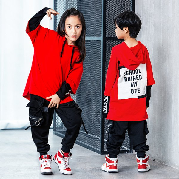 Hot Korean Style Hip Hop Dance Clothes Jazz Hiphop Pop Suit Street Dance Wear Costumes for Kids Boys Girls Women Men Children